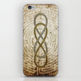 Double Infinity Silver Gold antique iPhone Skin