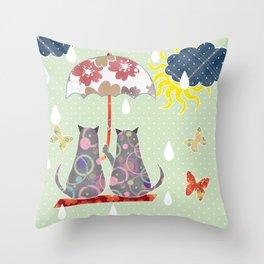 "A series of "" Favorite pillow "".Cats love. Throw Pillow"
