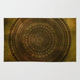 Lime Brown Mandala Rug