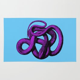 Snek 4 Snake Purple Blue Rug