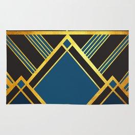 Art Deco New Tomorrow In Blue Rug