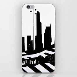City Scape in Black and White iPhone Skin