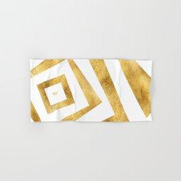 ART DECO VERTIGO WHITE AND GOLD #minimal #art #design #kirovair #buyart #decor #home Hand & Bath Towel