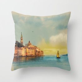 Italian landscape Throw Pillow