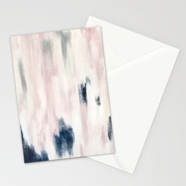 Blush Pink and Blue Pretty Abstract Stationery Cards