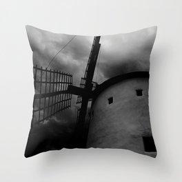 Terror windmill Throw Pillow
