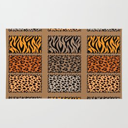Wild Cats Jungle Print Rug