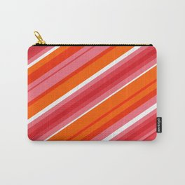 Tangerine Stripe Carry-All Pouch