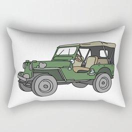 SUV. All-wheel off-road car. Rectangular Pillow