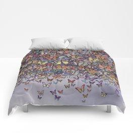butterfly cascade Comforters