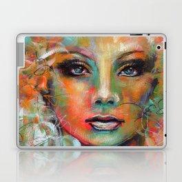 Little Colorgirl Original Painting Laptop & iPad Skin