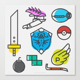 Legendary Videogame Weapons Canvas Print