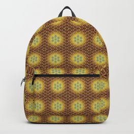 VIRGO sun sign Flower of Life repeat pattern Backpack