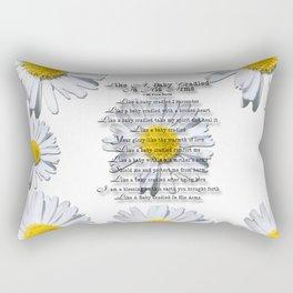 Daisy Flower with Christian Faith Base Poem Rectangular Pillow