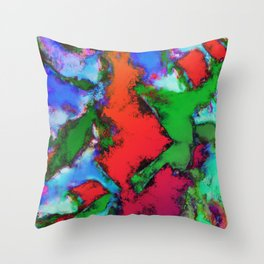 Alligator jaws Throw Pillow