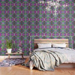 Green Fuchsia Kaleidoscope Wallpaper