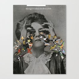 Massage Swollen Eye Lids Canvas Print