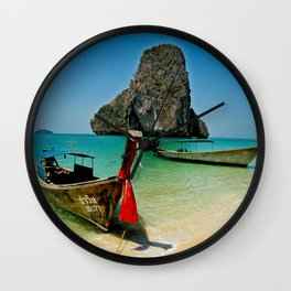 Railay Bay Beach Wall Clock