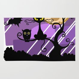 Scary Witch Cat Rug