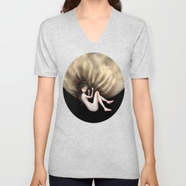 Sail away... to the moon Unisex V-Neck