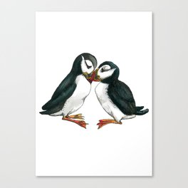 I Puffin Love You Canvas Print