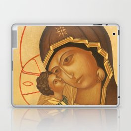Orthodox Icon of Virgin Mary and Baby Jesus Laptop & iPad Skin