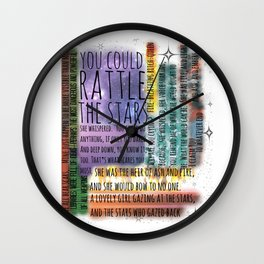 THRONE OF GLASS QUOTES Wall Clock