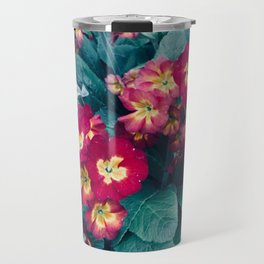 Pretty Little Red & Yellow Flowers Travel Mug