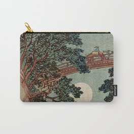 Saruhashi Bridge in Kai Province Japan Carry-All Pouch