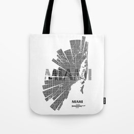 Miami Map Tote Bag