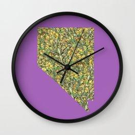 Nevada in Flowers Wall Clock