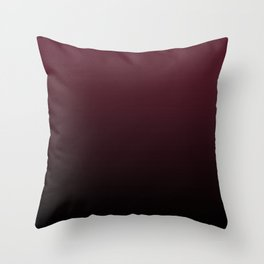 Burgundy Wine Ombre Gradient Throw Pillow
