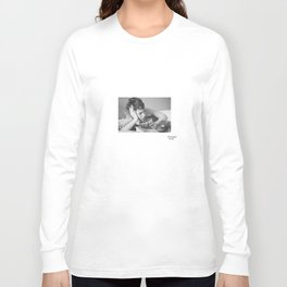 Breakfast in Bed B&W Long Sleeve T-shirt
