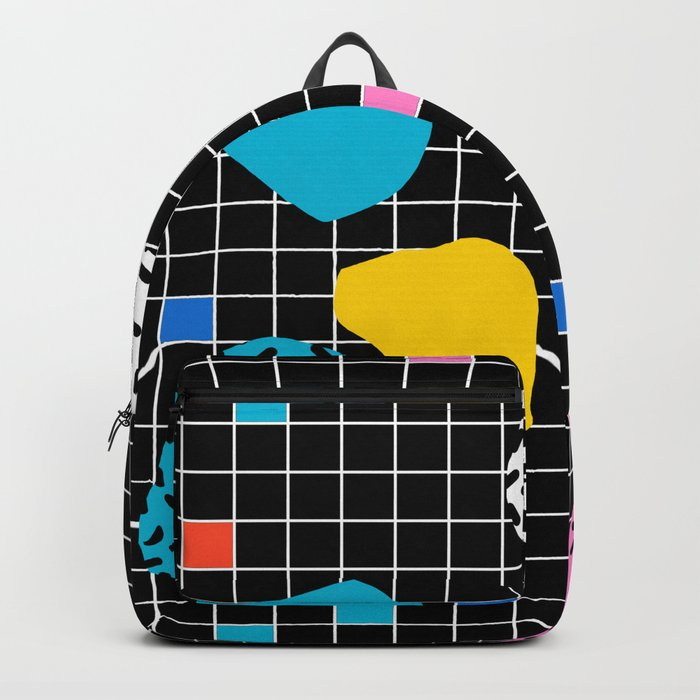 Couch Potato - memphis retro grid minimal trendy 80s throwback retro vibes 1980's style Backpack