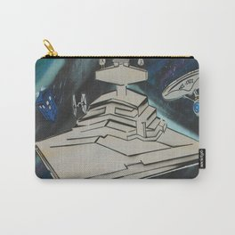 Galactic Starship Battle SciFi Spray Painting Carry-All Pouch