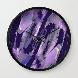 Thunder Plum Abstract Wall Clock