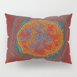Growing - Lamium - plant cell embroidery Pillow Sham