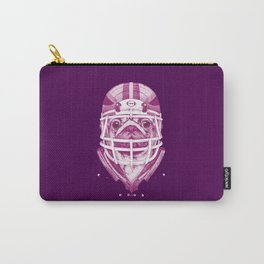 American Pug Football Purple Carry-All Pouch