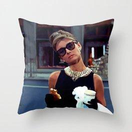 Audrey Hepburn #3 @ Breakfast at Tiffany's Throw Pillow