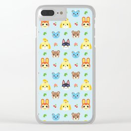 Animal Crossing - Blue Clear iPhone Case