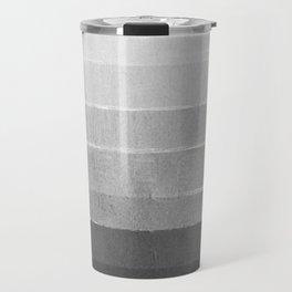 Brushstroke - Ombre Grey, Charcoal, minimal, Monochrome, black and white, trendy,  painterly art  Travel Mug