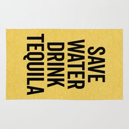 Drink Tequila Funny Quote Rug