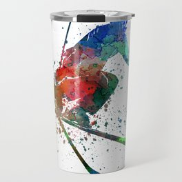 woman skier freestyler jumping Travel Mug