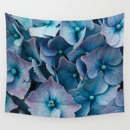 Blue Summer Hydrangeas Wall Tapestry