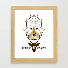 The brotherhood of the beard Framed Art Print