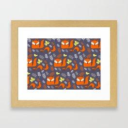Fox Pattern Framed Art Print
