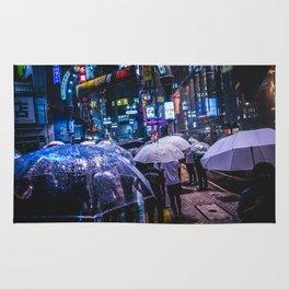 Shibuya center-gai at Rainy Night Rug