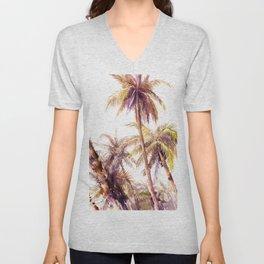 Palm Trees, Hawaii Unisex V-Neck
