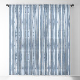 Shibori Tribal #society6 #shibori Sheer Curtain
