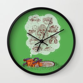 The Dreams of the Wonder Chainsaw Wall Clock
